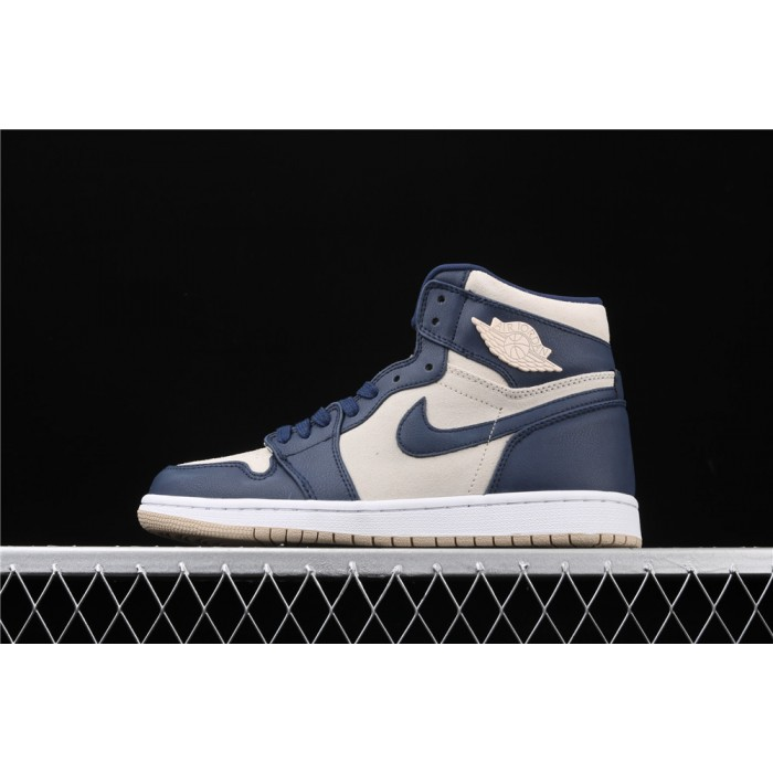 Air Jordan 1 High Retro Premium Deep Blue AJ1 Shoe