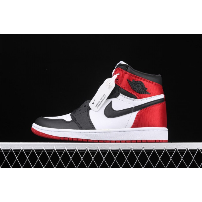 Air Jordan 1 High Satin WMNS Black Toe AJ1 Shoe