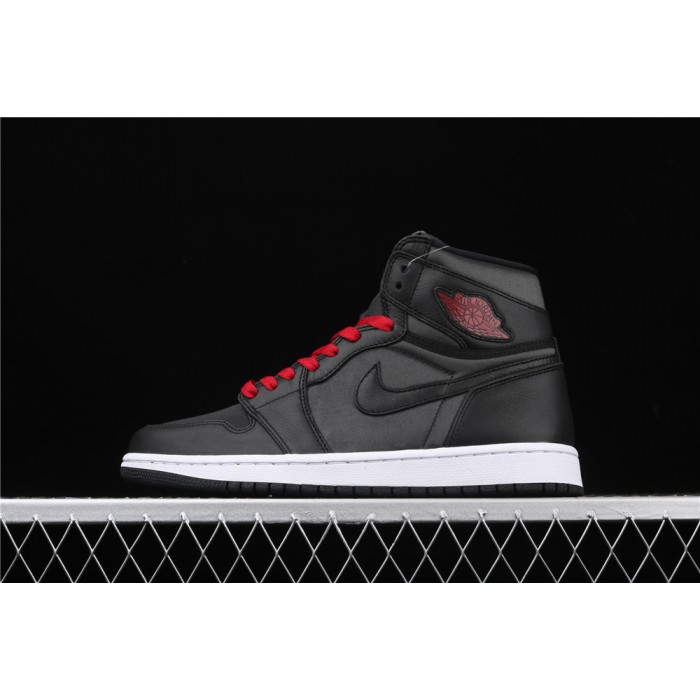 Men's Air Jordan 1 High OG Black Satin AJ1 Shoe