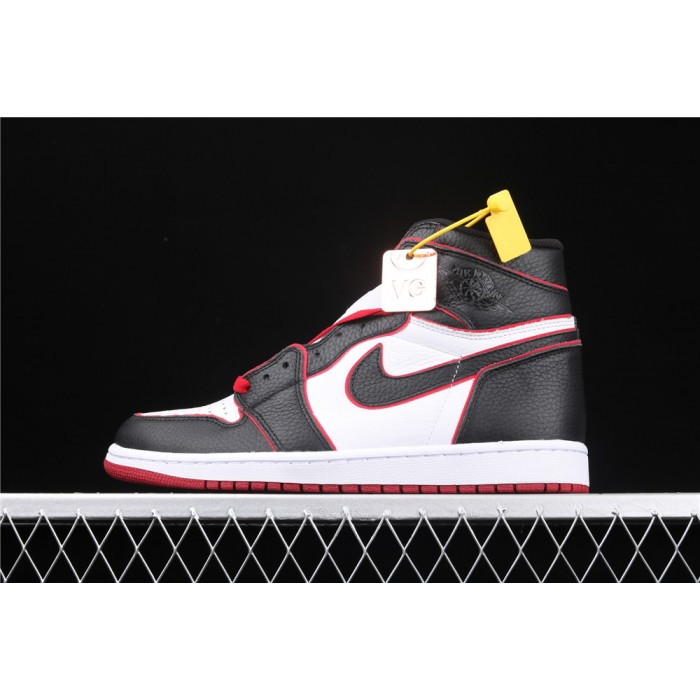 Men's Air Jordan 1 RETRO High OG Black Red Fly Logo AJ1 Shoe