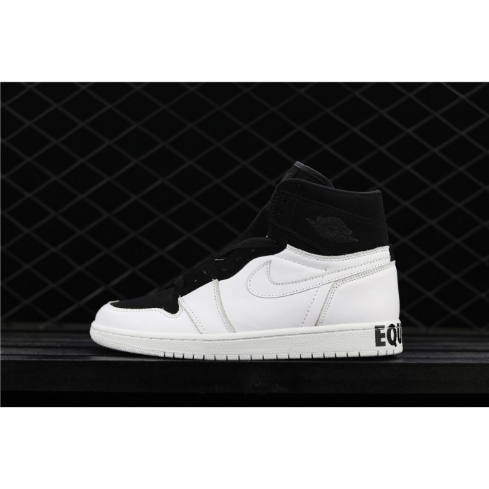 Men's Air Jordan 1 Retro High Equality White Black AJ1 Shoe