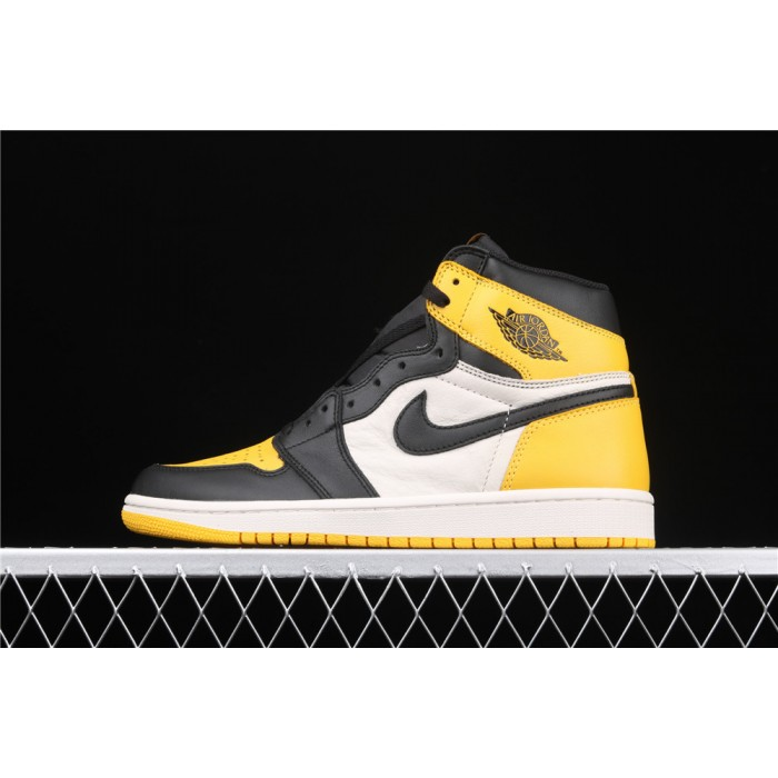 Men's Air Jordan Retro High OG Yellow Toe AJ1 Shoe