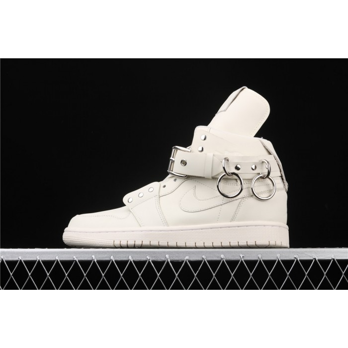 Men's Comme Des Garcons Plus x Air Jordan 1 High CDG White