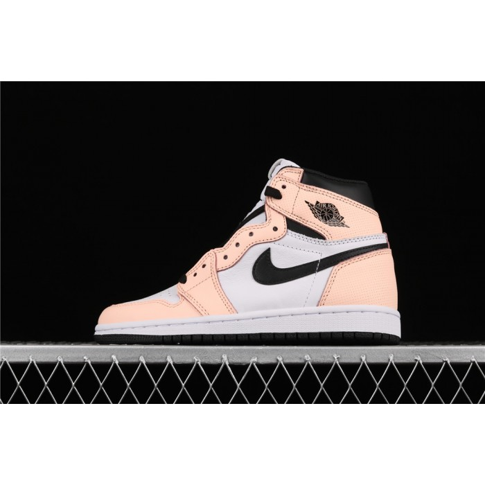Women's Air Jordan 1 Retro High OG Pink Green AJ1 Shoe