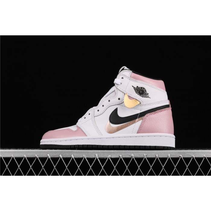 Women's Air Jordan 1 Retro High OG Pink White AJ1 Shoe