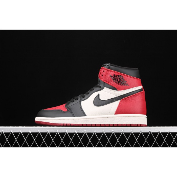 X Air Jordan 1 Retro High OG Black Red AJ1 Shoe