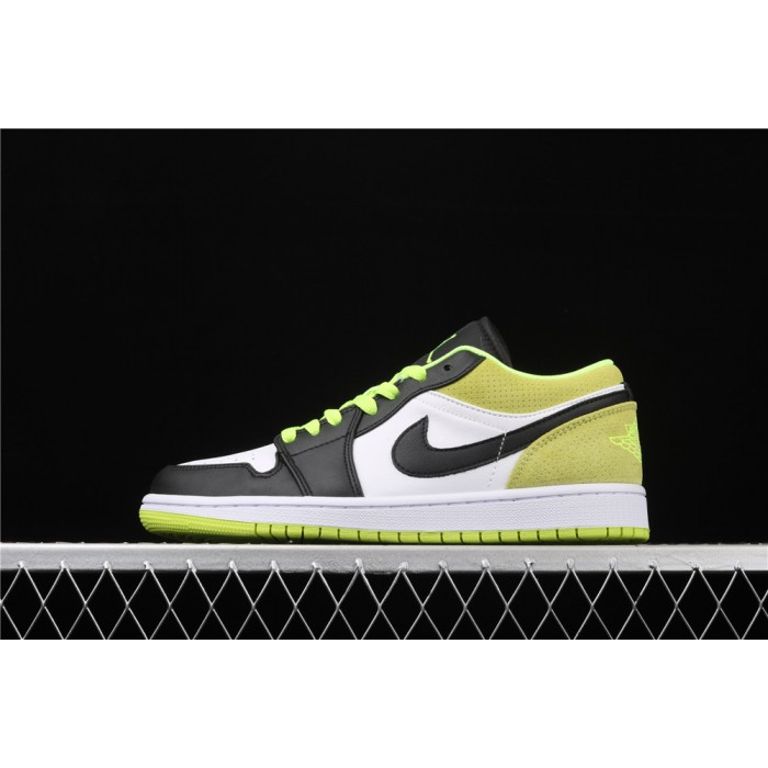 Air Jordan 1 Low Black White Green AJ1 Shoe