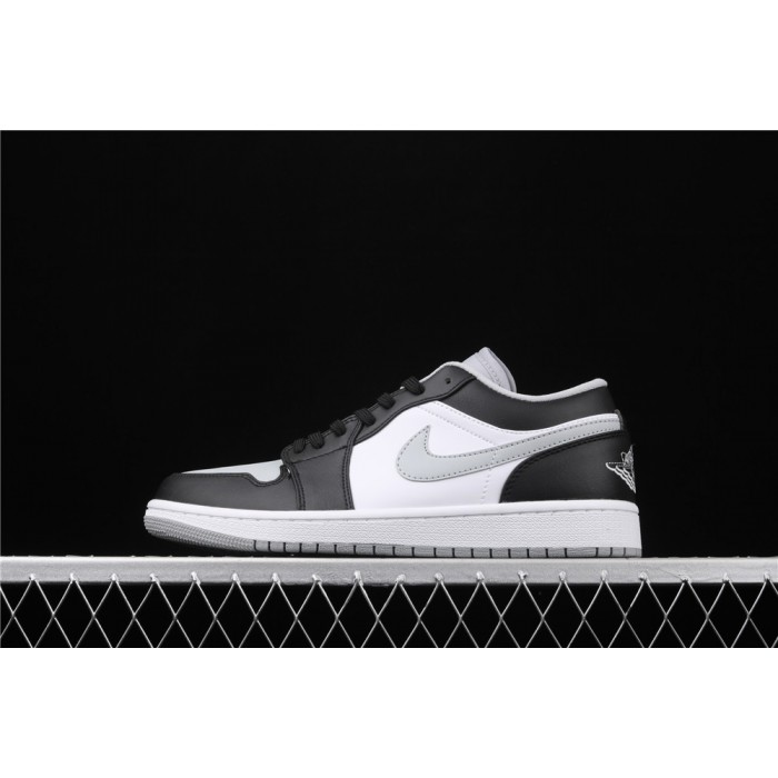 Air Jordan 1 Low Shadow Black White Gray Logo AJ1 Shoe