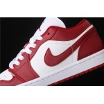 Air Jordan 1 Low White Red Logo AJ1 Shoe