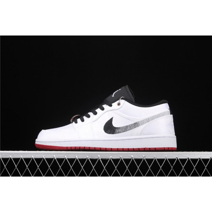 Men's CLOT x Air Jordan 1 Low Fearless White Shoe