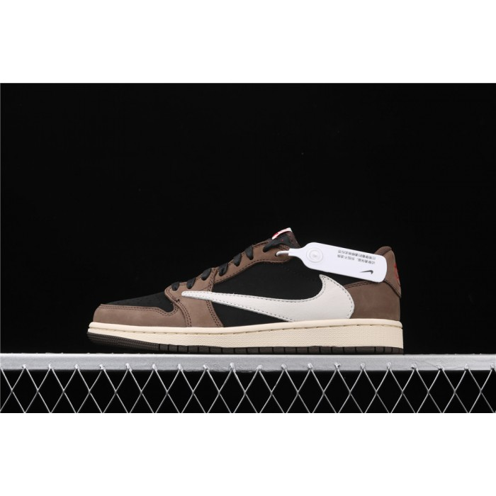 Men's Travis Scott x Jordan 1 Low OG Reverse Logo Shoe