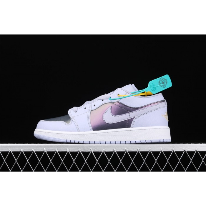 Women's Air Jordan 1 Low Electric Purple White Shoe