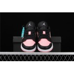 Women's Air Jordan 1 Low Pink Black Shoe