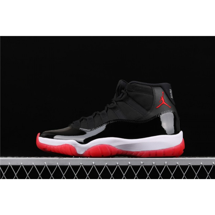 Air Jordan 11 Bred In Black White Red AJ11 Shoe