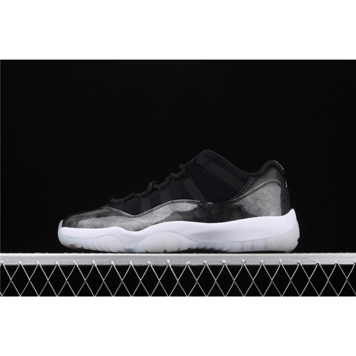 Men's Air Jordan 11 Low Dunk Carbon Fiber In Black White AJ11 Shoe