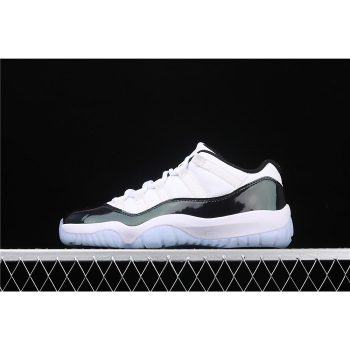 Men's Air Jordan 11 Low Emerald Metal Dark Green AJ11 Shoe