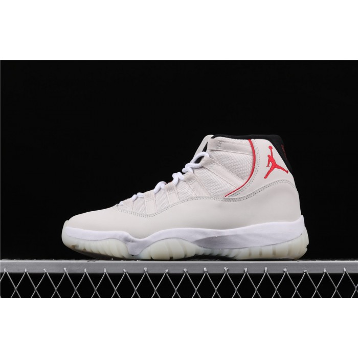 Men's Air Jordan11 Platinum Tint In Milk White AJ11 Shoe