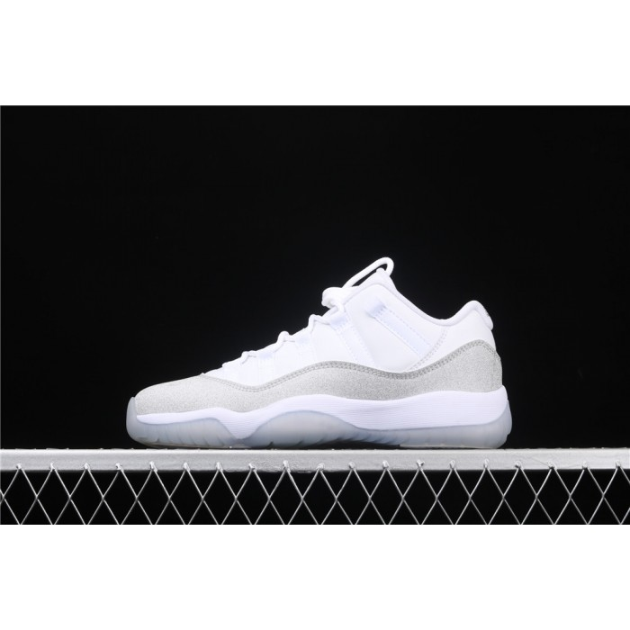 Women's Air Jordan 11 Low In White Light Gray AJ11 Shoe