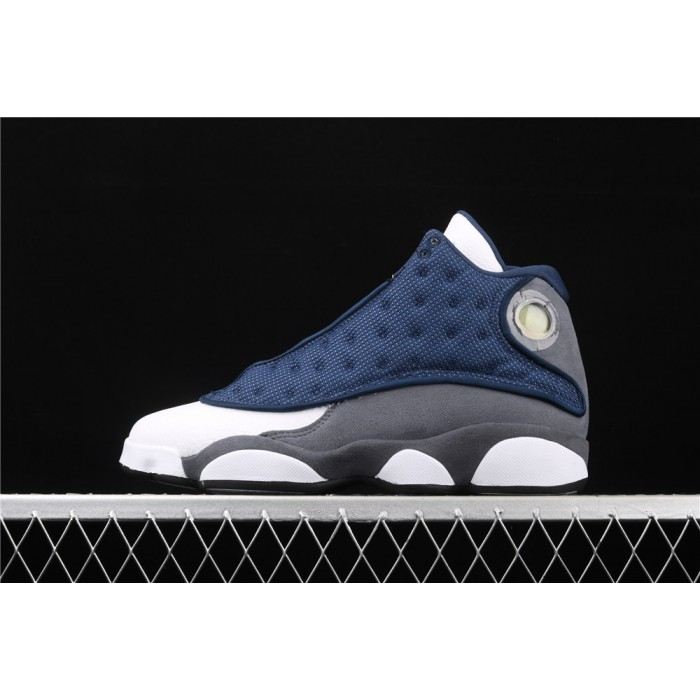 Men's Air Jordan 13 Flint GIGI In Blue White AJ13 Shoes