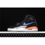 Air Jordan Legacy 312 In Black Blue Logo AJ3 Shoe