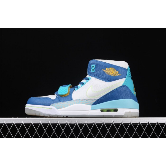 Air Jordan Legacy 312 In White Blue AJ3 Shoe
