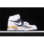 Air Jordan Legacy 312 In White Blue Golden AJ3 Shoe