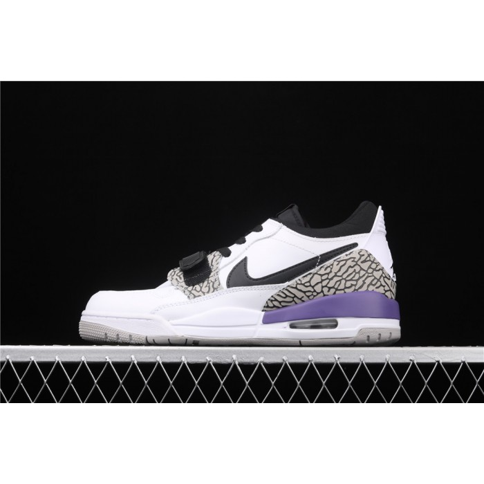 Air Jordan Legacy 312 Low In White Black Logo AJ3 Shoe