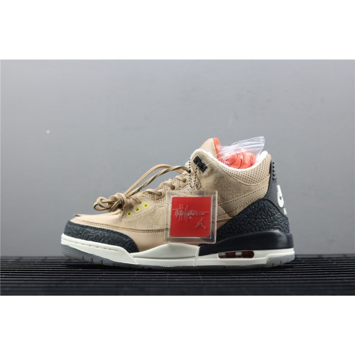 Men's Air Jordan 3 JTH Tinker In Sand Black AJ3 Shoe
