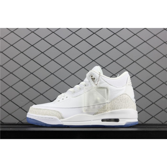Men's Air Jordan 3 Triple Burst In White AJ3 Shoe