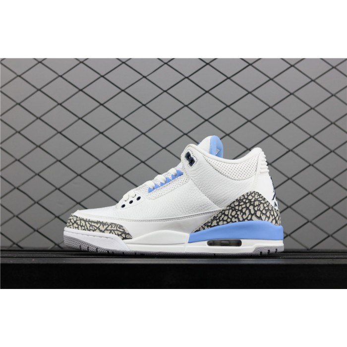 Men's Air Jordan 3 UNC PE Burst In White Blue AJ3 Shoe