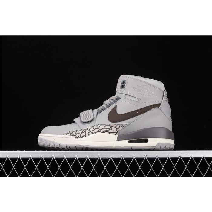 Men's Air Jordan Legacy 312 In Gray Chocolate Logo AJ3 Shoe