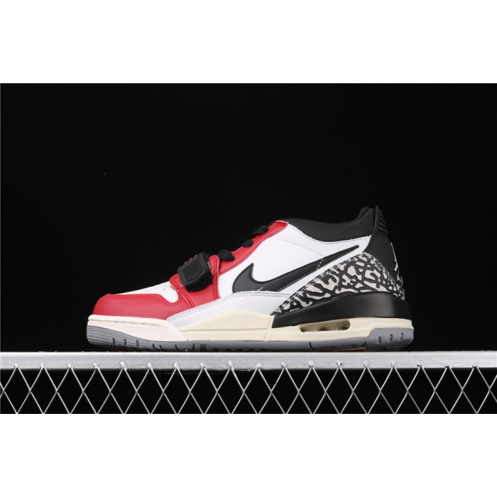 Men's Air Jordan Legacy 312 Low In Red White Black Logo AJ3 Shoe