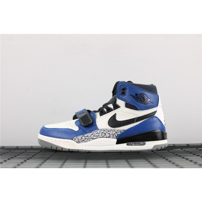Men's Air Jordan Legacy 312 NRG Storm In Blue White Black Logo AJ3 Shoe
