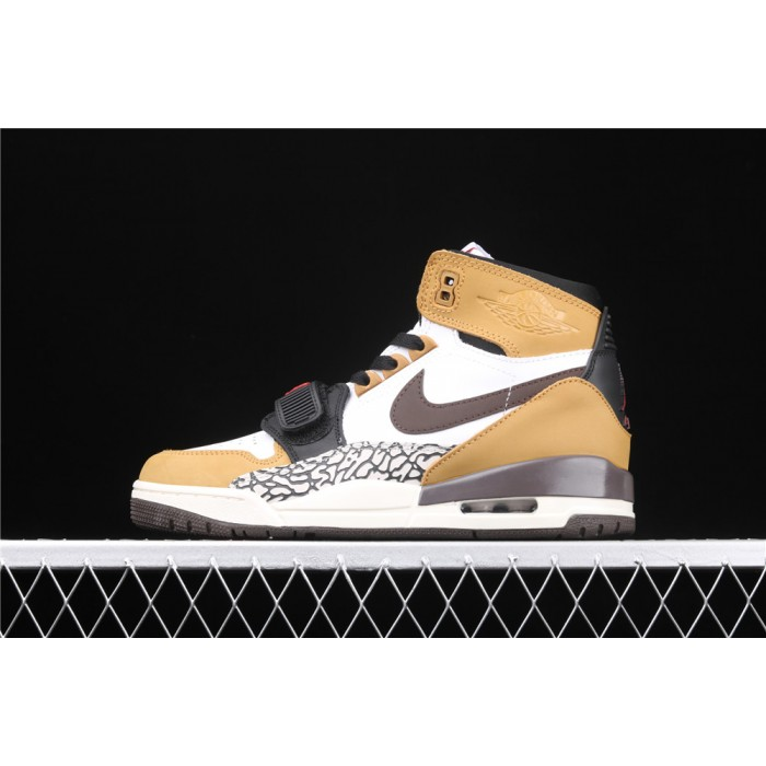 Men's Air Jordan Legacy 312 NRG Storm In White Yellow Chocolate Logo AJ3 Shoe