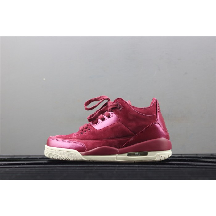 Women's Air Jordan 3 Bordeaux In Wine AJ3 Shoe