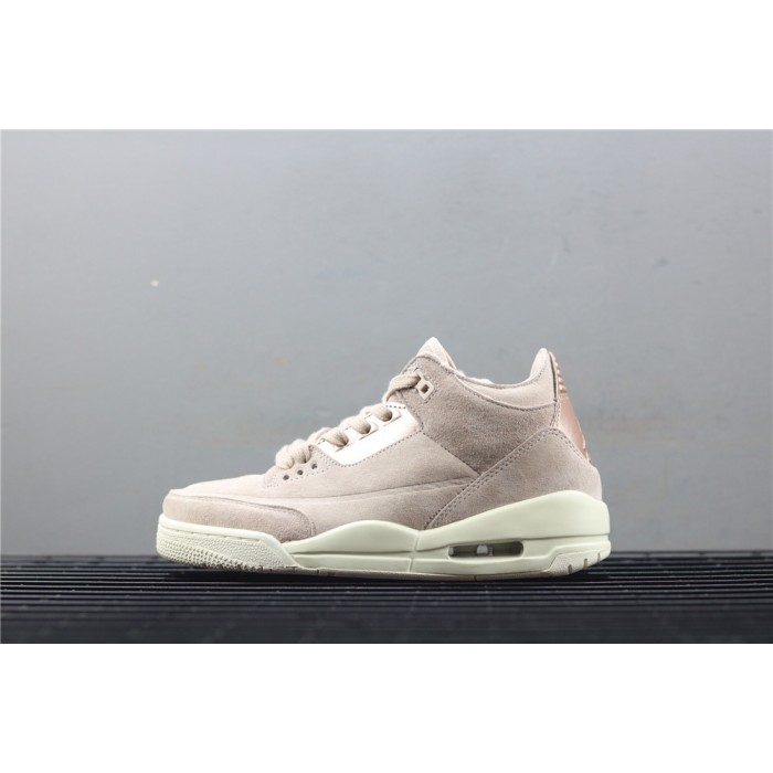 Women's Air Jordan 3 Particle Beige In Rose Golden AJ3 Shoe