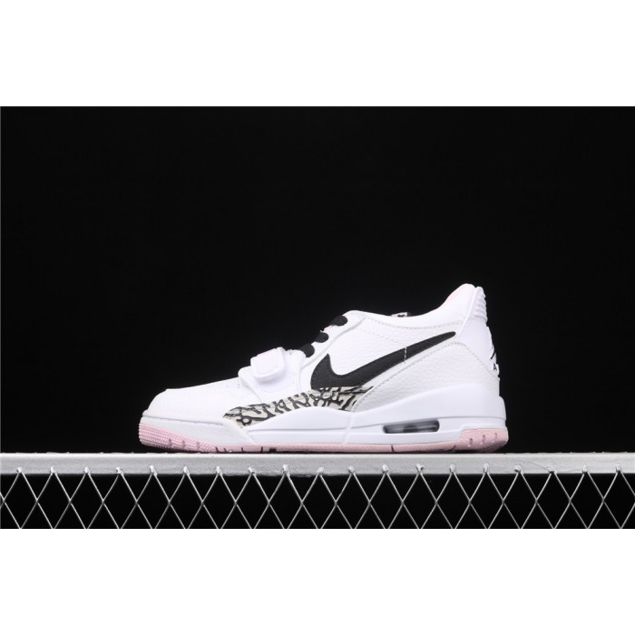 Women's Air Jordan Legacy 312 Low In White Pink AJ3 Shoe