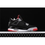 Air Jordan 4 Bred In Black White Red AJ4 Shoe