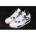 Air Jordan 4 Hot Lava In Marble Black White AJ4 Shoe