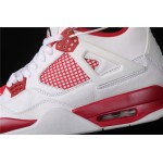 Air Jordan 4 Motorsport In White Red AJ4 Shoe