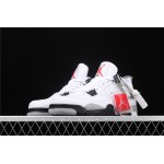 Air Jordan 4 White Cement In Gray Black AJ4 Shoe