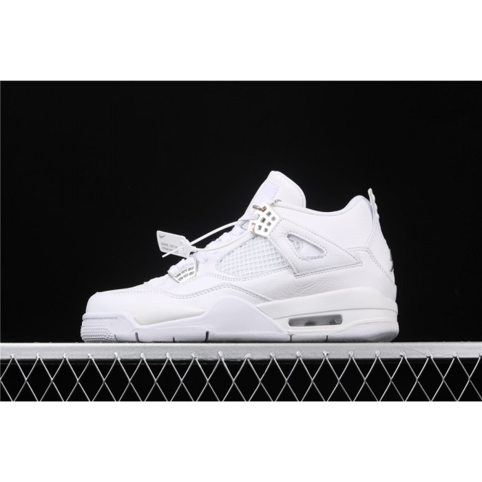 Air Jordan4 Retro PureMoney In White AJ4 Shoe