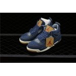 Levis x Air Jordan 4 In Blue AJ4 Shoe