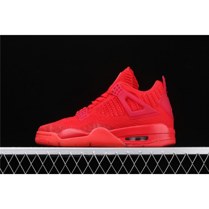 Men's Air Jordan 4 Flyknit In Light Red AJ4 Shoe