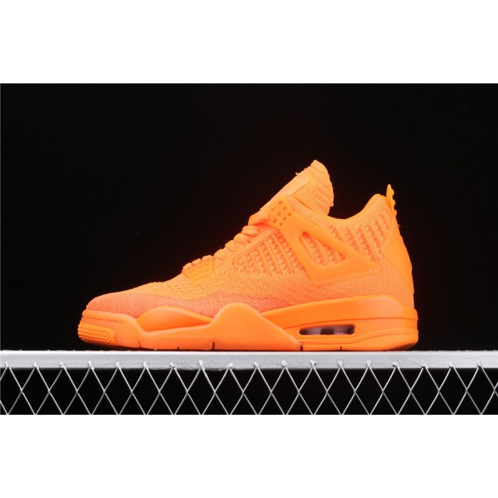 Men's Air Jordan 4 Flyknit In Orange AJ4 Shoe