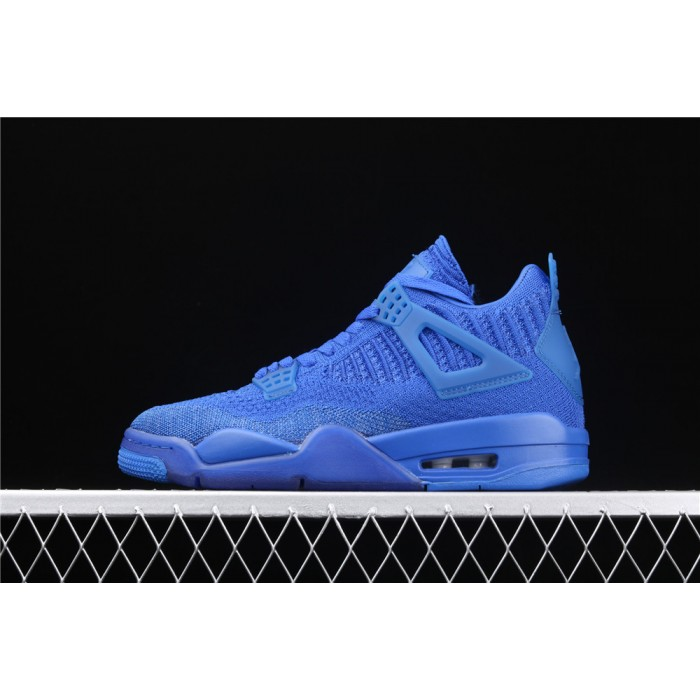 Men's Air Jordan 4 Flyknit In Sea Blue AJ4 Shoe