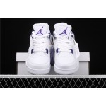 Men's Air Jordan 4 In White Court Purple AJ4 Shoe