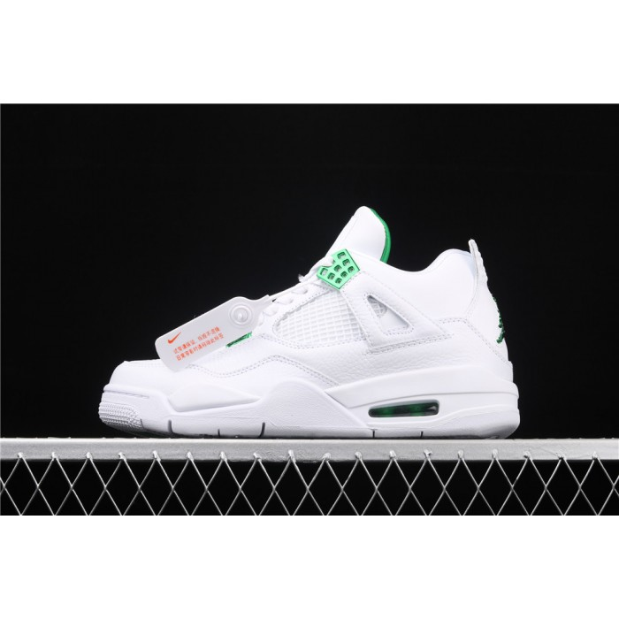 Men's Air Jordan 4 Pine Green Flight In White AJ4 Shoe
