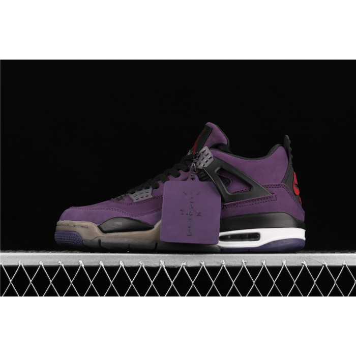 Men's Air Jordan 4 Retro Flight In Purple AJ4 Shoe