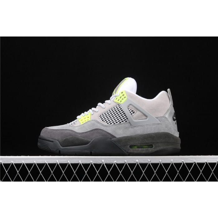 Men's Air Jordan 4 SE Air Max 95 Neon In Gray AJ4 Shoe